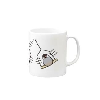 subacoのぶんぶん文鳥(さくら) Mugs