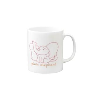 pink elephant マグカップ