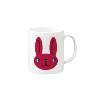 ウサギ pink マグカップ