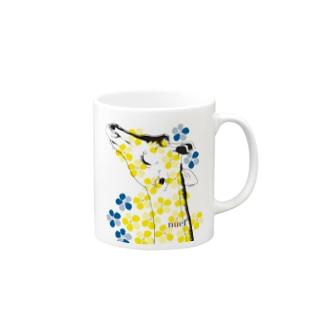 Girafflower お花キリン Mugs