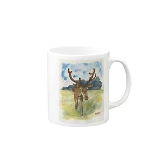 鹿さんグッズ Mugs