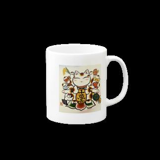 Torahamu39の開運縁起物招き猫 マグカップ