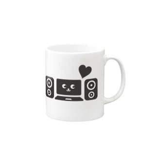 DTM音楽制作(黒) Mugs