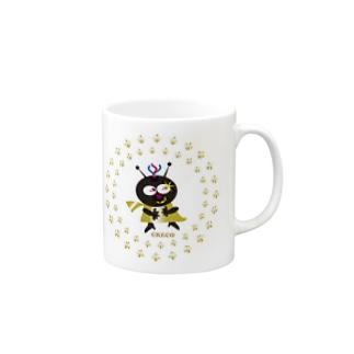 ジルトチッチのデザインボックスのちょい悪クレコちゃんのニタッ笑い Mugs