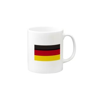 美々野くるみ@金の亡者のドイツ 国旗 Mugs
