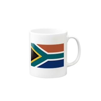 南アフリカ 国旗 Mugs