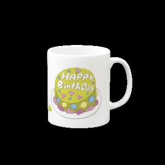 マーケットデザインワーク ビイトのまっちゃケーキ Mugs