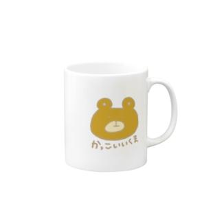 かっこいいくま茶 Mugs