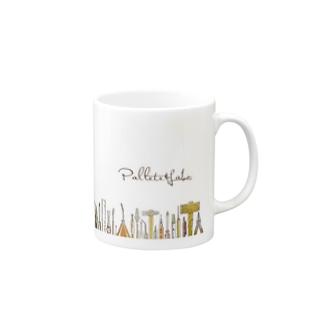 Pallete&Labo屋号オリジナルグッズ 横形 Mugs