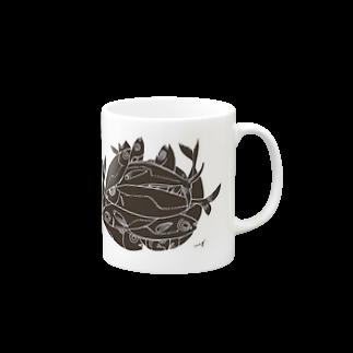megumiillustrationのAJI Black マグカップ
