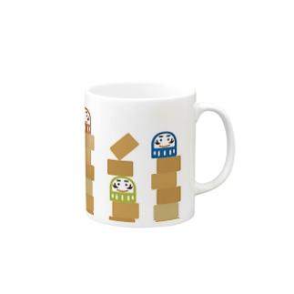 だるまおとし Mugs