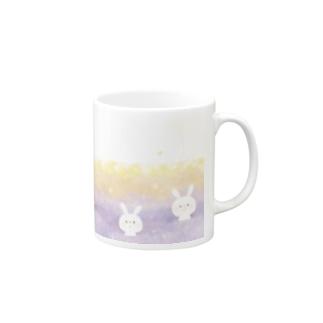 うさぎと花 Mugs