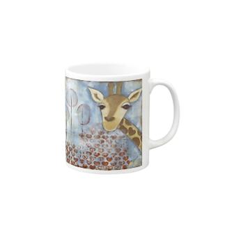 Hello ~Giraffe Mugs