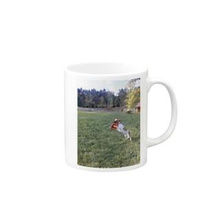 濃い顔ジャックのフリスビーキャッチ Mugs