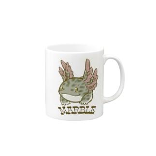 マーブル ウーパールーパー Mugs