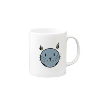 穴猫シリーズ Mugs