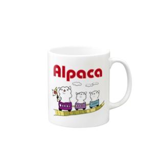 ぷりてぃアルパカ マグカップ
