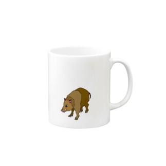 ブッフィー いのしっしー Mugs