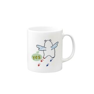 """かぴ天使 """"YES"""" Mugs"""