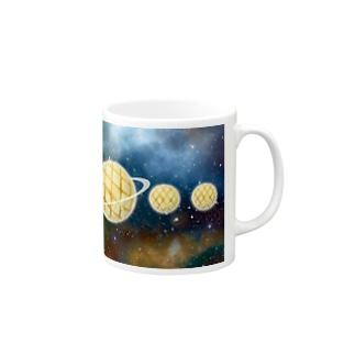 太陽系がメロンパン Mugs