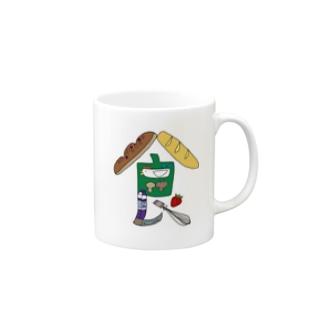 イラスト文字『食』 マグカップ