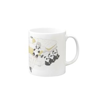 パンダとおんなのこ マグカップ
