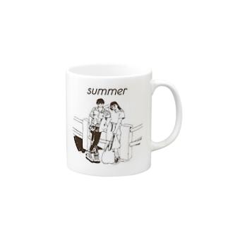 じゃ、夏なんで Mugs