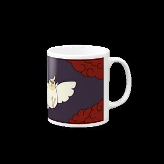 シマエナガの「ナガオくん」公式グッズ販売ページの花札「牡丹とオカメ」(紫) マグカップ