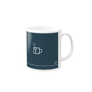 和モダンイニシャルロゴ Mugs