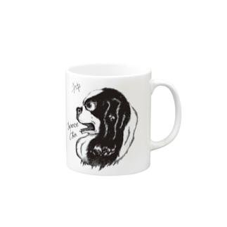 イケメン日本犬 狆 Mugs