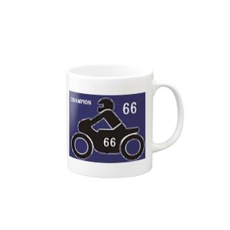 バイクレース 66 Mugs