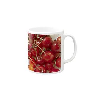 果実酒のさくらんぼ Mugs
