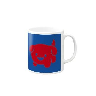 赤わんこ Mugs
