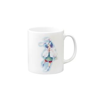 青うさぎ Mugs