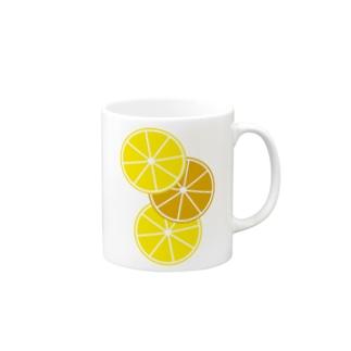 レモンとオレンジ Mugs