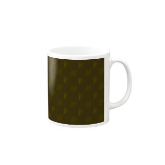 小動物lovesFIATのFIAT_PANDAモノグラム【Brown】 Mugs