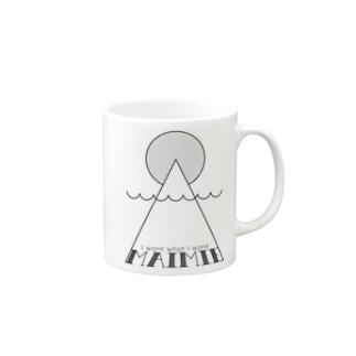 maimieハレの日(黒ロゴ) マグカップ