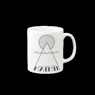 maimie WEB SHOPのmaimieハレの日(黒ロゴ) マグカップ