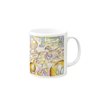 花と雪のファンタジー Mugs