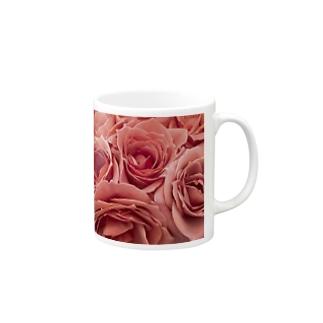 ピンクローズ Mugs