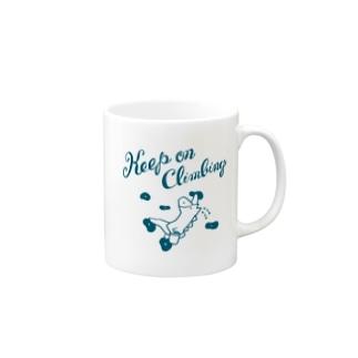 ボルダリングの馬 - こまじ(緑) マグカップ