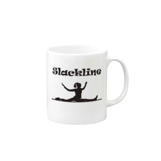 スラックライン(スプレッド) マグカップ