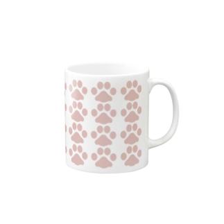 肉球(ピンク) Mugs