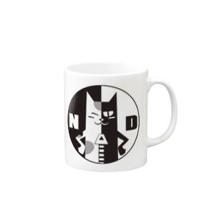 ND猫の皮脱衣所(黒印) Mugs