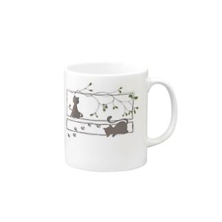 ヤドリギと猫 Mugs
