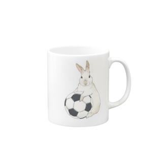 むぎウサッカー Mugs