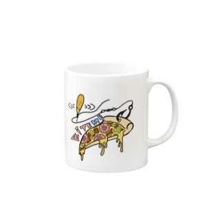 バイトミー ピザTシャツ Mugs