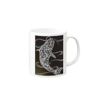 鯉 ペイズリー柄 Mugs