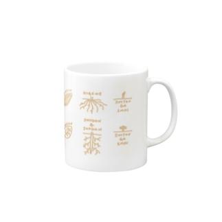 単子葉類と双子葉類(花) Mugs