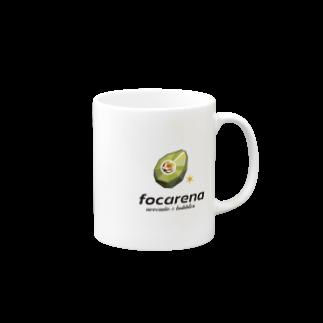 Designer YKのfocarena on white background マグカップ